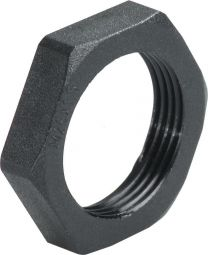 Locknuts RAL 9005 - Agro Cable gland 26 mm